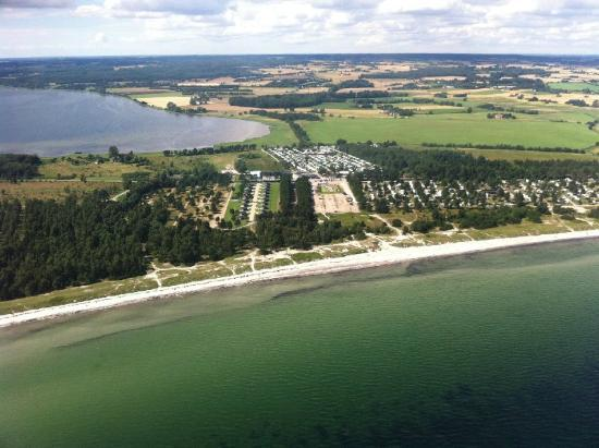 Feddet Strand Camping & Feriepark: Campsite from the air