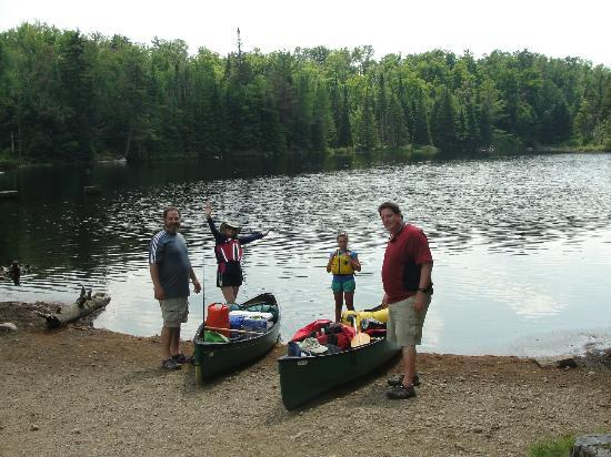St. Regis Canoe Outfitters: Start of our canoe trip