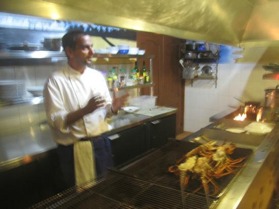 Le Vivier : Here's the chef's presentation of the cooking