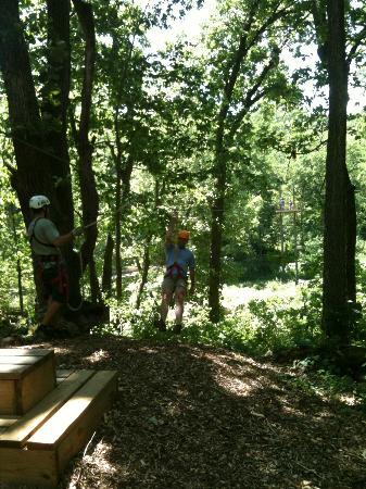 Sky Tours at YMCA Union Park Camp: View of someone coming in