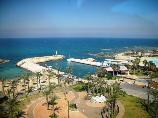 "Sawary Resort & Hotel: A view of Batroun beach from  top floor of ""Sawary"" resort building"