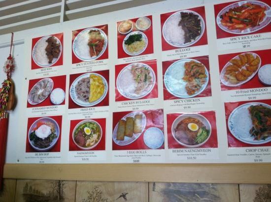 Korean House: food menu