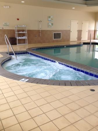 Homewood Suites by Hilton Virginia Beach/Norfolk Airport: Inside pool & jacuzzi.