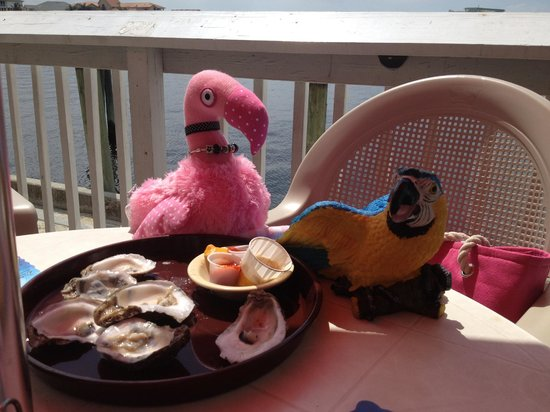 Try the oyster platter from Village Oyster Bar. Patsy and Paulie approved.