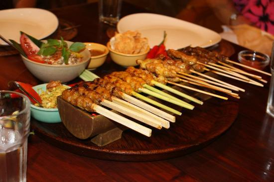 Bumbu Bali: Meat on a lemon-grass stick