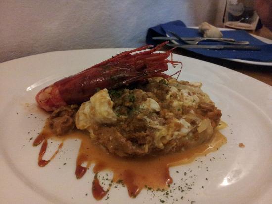 Restaurante Ramon Pipi : Revuelto de erizo y carabinero.