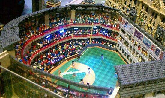 Rangers stadium out of legos - Picture of Legoland Discovery Center ...