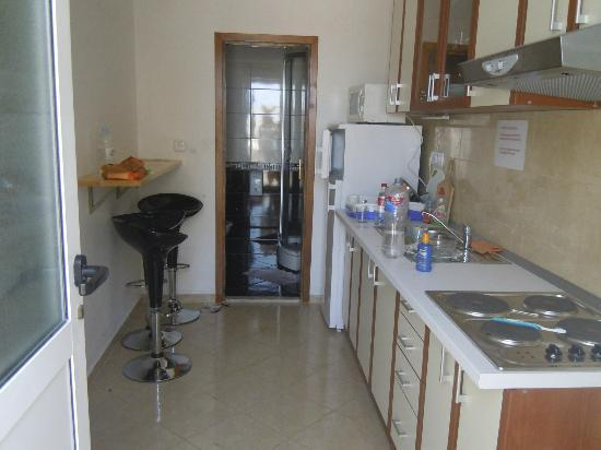 Youth Hostel Villa Marija: The kitchen leading through to bathroom of the 6 bed dorm