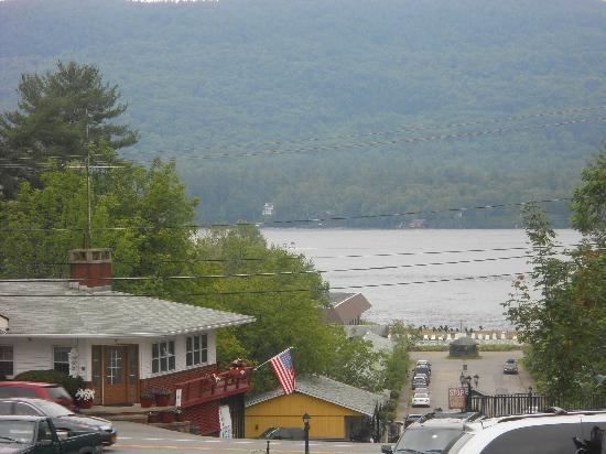 Nordick's Motel: View of the lake from the Motel