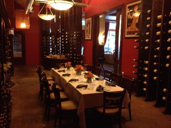 Copia Restaurant Wine Garden S Upper Cellar One Of 5 Private Rooms