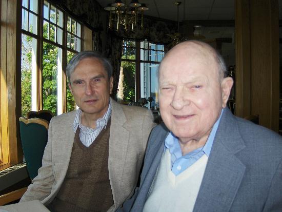 The Geneva Inn Restaurant & Patio: Bob & Chester (father-in-law) enjoying the scenery