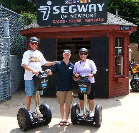 Segway of Newport: Us with Andy (middle) one of the co-owners