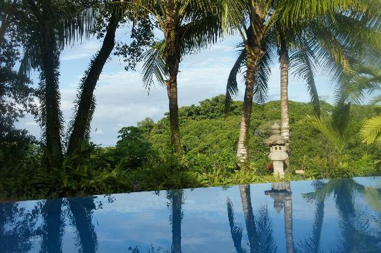 Hotel Cuna del Angel: View from the infinity pool...very special