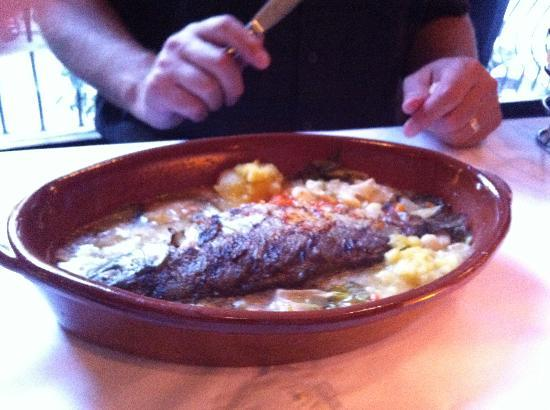 Taranta : Grilled Trout Brushed with Saffron Butter