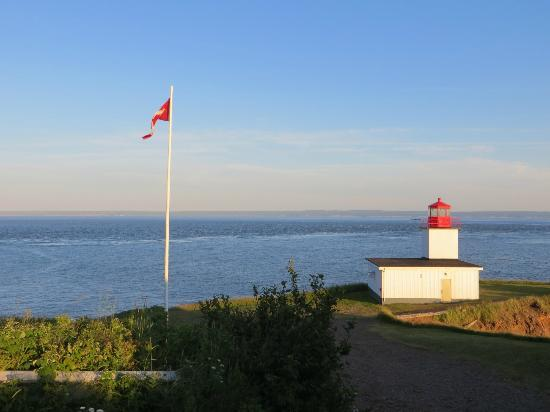The Lighthouse on Cape d'Or: The Lighthouse in the Evening
