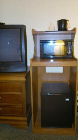Country Inn & Suites By Carlson, Newark Airport: microwave and fridge