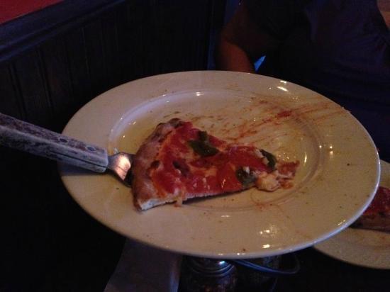 luigi's coal oven pizza: Ahhh...the last slice. We shall return again soon!