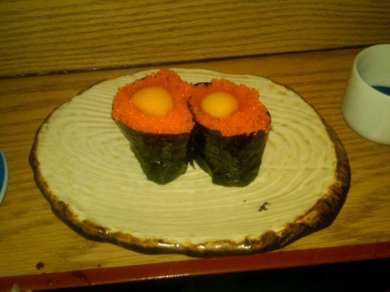 Tanuki Sushi Bar & Garden: Masago with Quail Egg