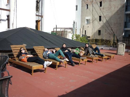 Limehouse Youth Hostel: en la terraza