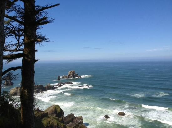 ‪‪Seaside‬, ‪Oregon‬: Tillamook Head lookout point on the trail.‬