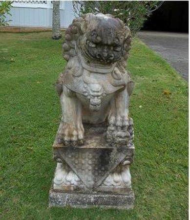 Senator Fong's Plantation and Gardens: Lion statue