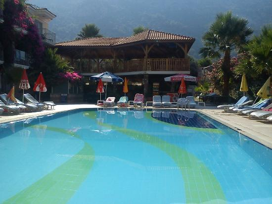 Villa Beldeniz: Pool and bar terrace