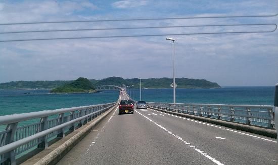 Shimonoseki, Jepang: Tsunoshima Bridge - access to Island