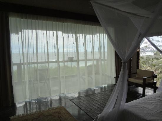 The Shore Villa: View from upper balcony room