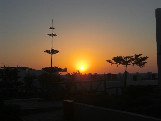 Mitsis Rinela Beach Resort & Spa: coucher du soleil