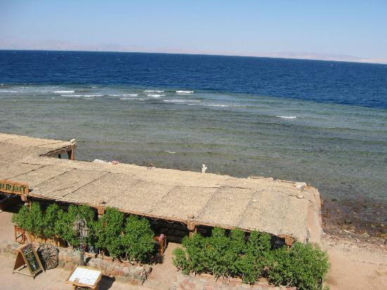 Star Of Dahab Hotel: View from roof to the Sultana Restaurant