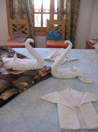 Star Of Dahab Hotel: Decorative towel arrangement