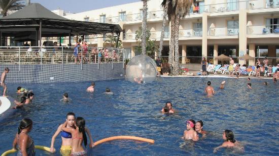 SunConnect Cabogata Garden: No es un hamster....en mi hijo en la bola de la piscina