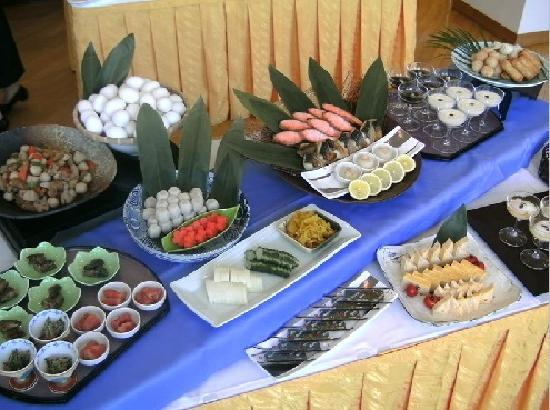 R Hotel Inn Kitakyusyu Airport: Banquet 料理