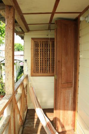 Panama's Paradise Saigoncito: Balcony with private hammock!