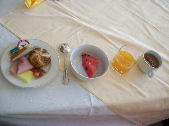 Hotel Central: buffet breakfast some items