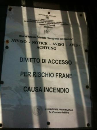 Riserva Naturale Orientata Cavagrande del Cassibile: chiuso
