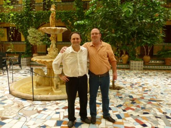 Mollina, Spain: courtyard with fountain (I'm on the right)