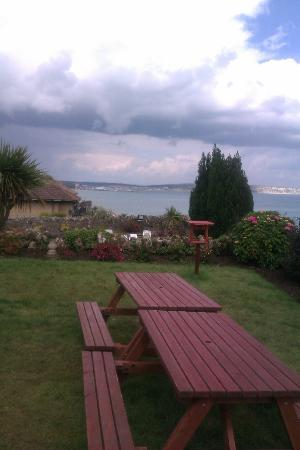 Cliff Hall: Across the bay looking along Shanklin town.
