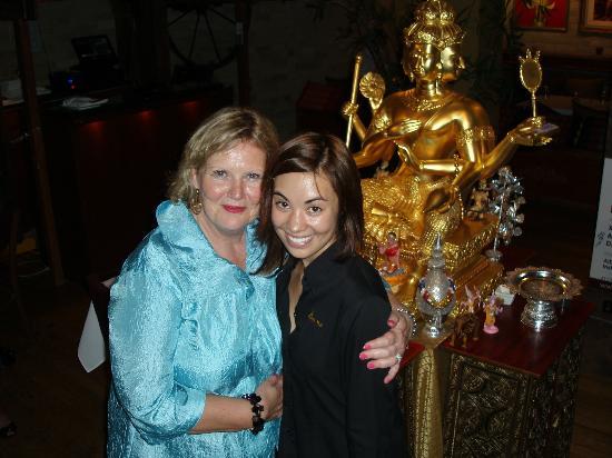 Mengrai Thai: ELizabeth Harrington and MEngrai friend