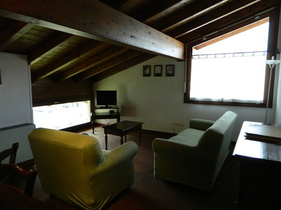 Casa Lory: living room. very dark.