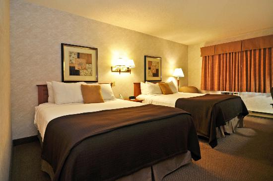 BEST WESTERN Glengarry Hotel: Room with 2 Queen beds with mini-refrigerator & microwave