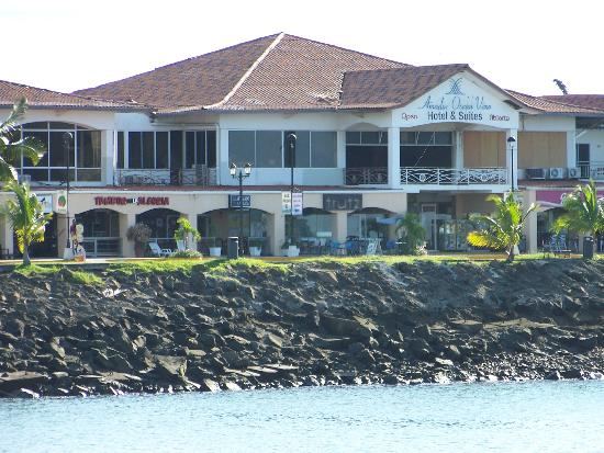 Amador Ocean View Hotel & Suites: hotel from ferry dock to Taboga Island