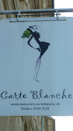 Restaurant Carte Blanche : Sign