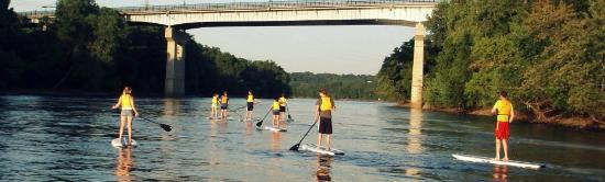 Stand Up MN Paddleboarding Day Tours: This is our Fort Snelling route, which has winding waterways through a gorge and under the Fort!