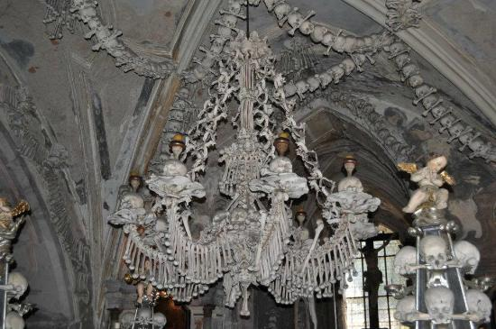 Human bone chandelier picture of ossuary the cemetery church ossuary the cemetery church human bone chandelier aloadofball
