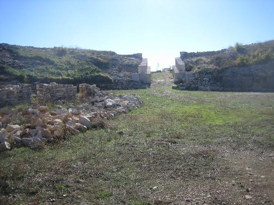 Burnum Roman Military Camp: View from within amphitheatre