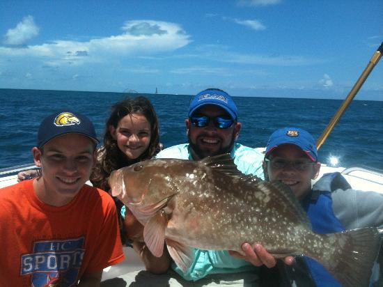 Captain Doug Kelley Florida Keys Fishing Charter: Red grouper caught while fishing for yellowtails