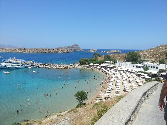 Mitsis Grand Hotel: Lindos from up the hill