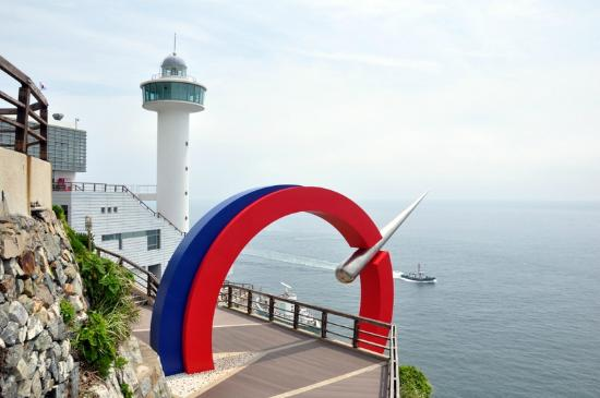 Busan, Sydkorea: View of the Lighthouse