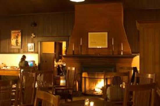 Lake Louise Station Restaurant : 103 year old original fireplace in the loung